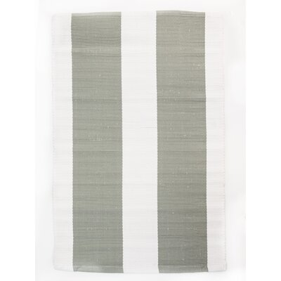 Harvard Hand Woven Cotton Gray/White Area Rug Rug Size: Rectangle 26 x 42
