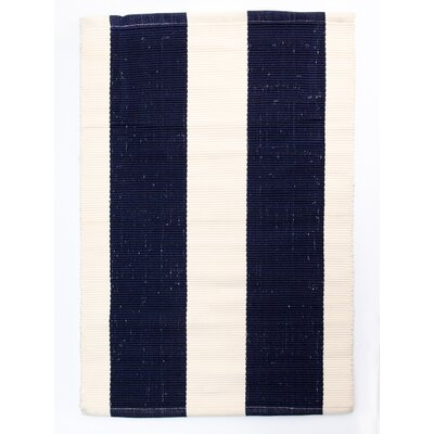 Harvard Navy/Ivory Indoor/Outdoor Area Rug Rug Size: Rectangle 26 x 42