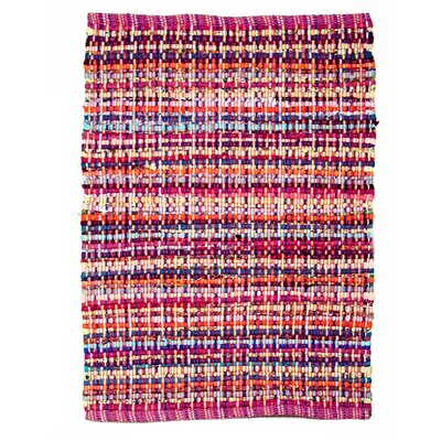 Cross Grain Raspberry Area Rug Rug Size: 26 x 42
