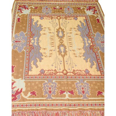 Mission Kilim Hand-Woven Sunset Beige Area Rug