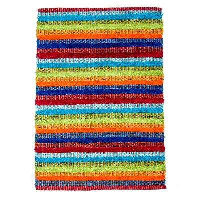 Casa Bella Hand-Woven Multi Area Rug Rug Size: 4 x 6