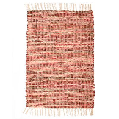 Morocco Hand-Woven Sandwashed Red Area Rug Rug Size: 4 x 6