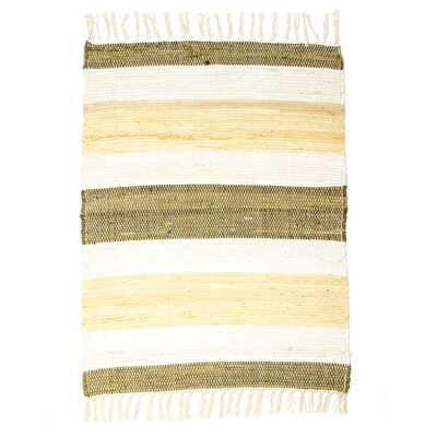 Hampton High Count Hand-Woven Maize Area Rug Rug Size: 26 x 42