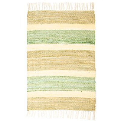 Hampton High Count Hand-Woven Pesto Area Rug Rug Size: 26 x 42