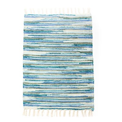 Velvet Blue Heather Area Rug Rug Size: 26 x 42