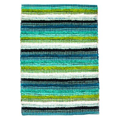 Casa Bella Hand-Woven Blue Green Area Rug