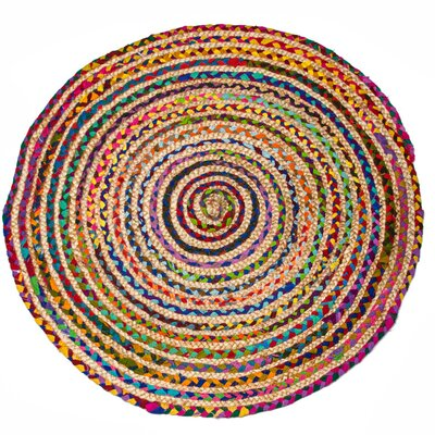 Stained Hand-Woven Strawberry Ice Area Rug