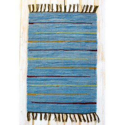 Canyon Blue Stripe Area Rug Rug Size: Runner 24 x 7
