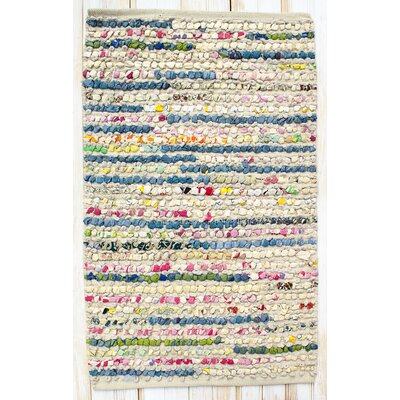 Staccato Ivory Area Rug Rug Size: Rectangle 26 x 42