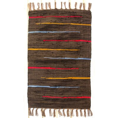 Canyon Hand-Woven Cotton Cocoa Area Rug Rug Size: Runner 24 x 7