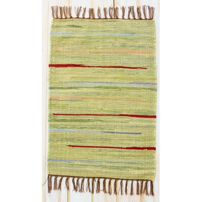 Canyon Green Stripe Area Rug Rug Size: Rectangle 26 x 42