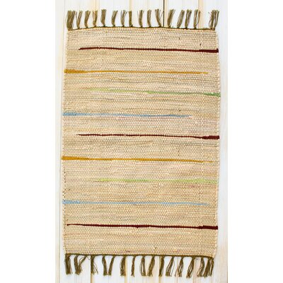Canyon Natural Stripe Area Rug Rug Size: Rectangle 26 x 42