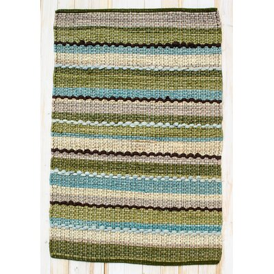 Ric Rac Blue/Green Area Rug Rug Size: Rectangle 2 x 3