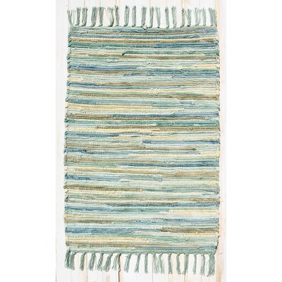 Velvet Aqua/Turquoise Area Rug Rug Size: Rectangle 26 x 42