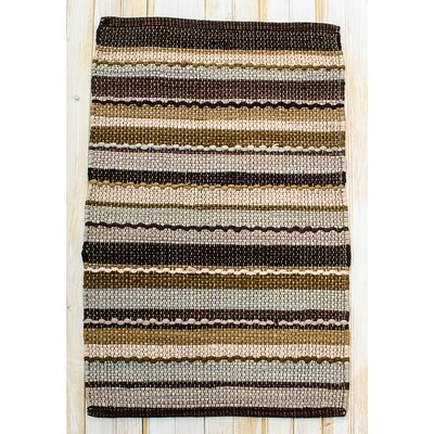 Ric Rac Brown Area Rug Rug Size: 2 x 3