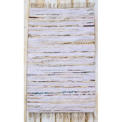 Bombay Hand Woven Cotton Purple Area Rug Rug Size: Rectangle 26 x 42