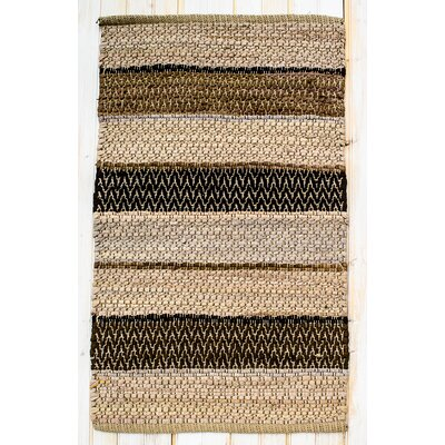 Hudson Herringbone Mocha Striped Area Rug Rug Size: Rectangle 2 x 3