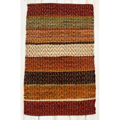 Hudson Herringbone Saffron Striped Area Rug