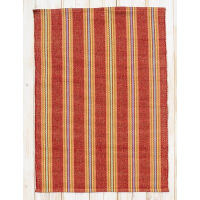 Chatham Red Clay Stripe Area Rug Rug Size: Rectangle 26 x 42