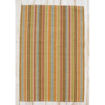 Topside Sherbet Stripe Area Rug Rug Size: Rectangle 26 x 42