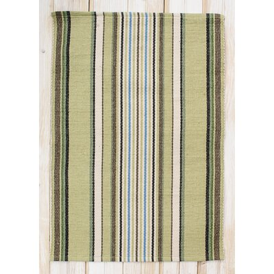 Cape Cod Seagrass Stripe Area Rug Rug Size: Rectangle 26 x 42