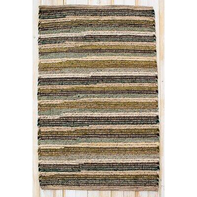 Paris Moss Green Rug Rug Size: 26 x 42