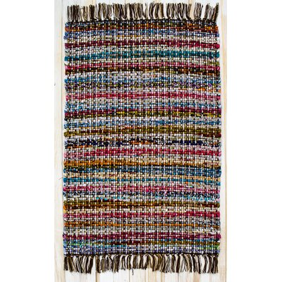 Hopscotch Cocoa Striped Area Rug Rug Size: 2' x 3'