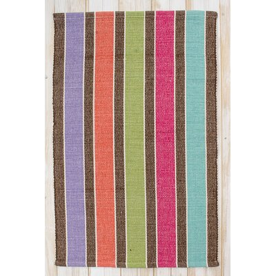 Picket Heathered Multi Fence Area Rug Rug Size: 26 x 42