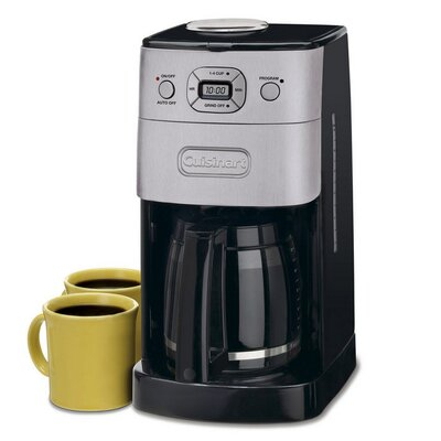 Cuisinart Grind & Brew 12 Cup Automatic Coffee Maker -Brushed Chrome Dgb-625BC