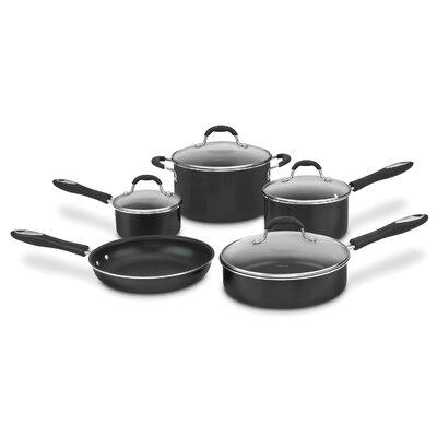 Nonstick Aluminum 9 Piece Cookware Set Color: Black