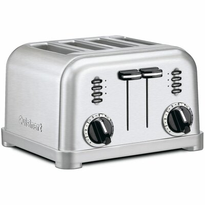 Metal Classic 4 Slice Toaster in Brushed Stainless CPT-180