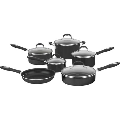Advantage Nonstick 11 Piece Cookware Set Color: Black
