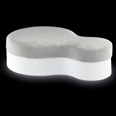 Nuvola Pouf Finish: White with Light