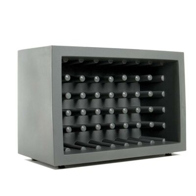 Bachus 35 Bottle Floor Wine Rack Finish: Grey