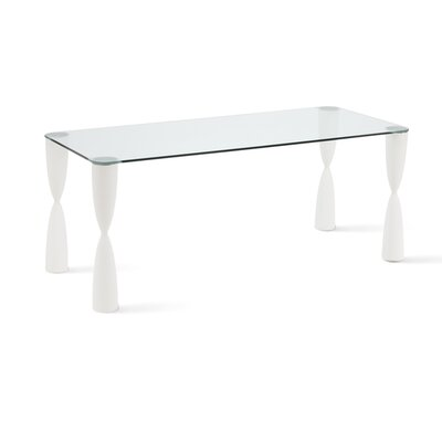 Prince Dining Table Finish: Metallic Silver Lacquer, Size: 28.4 x 70.9 x 31.5