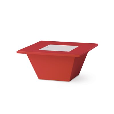 Bench Coffee Table Color: Flame Red Lacquer