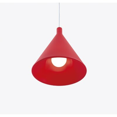 Juxt 1-Light Mini Pendant Finish: Red with Light