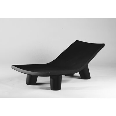 Low Lita Chaise Lounge Finish: Iron Grey Lacquer