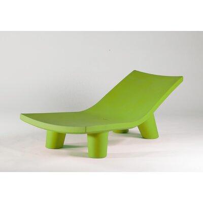 Low Lita Chaise Lounge Finish: Green