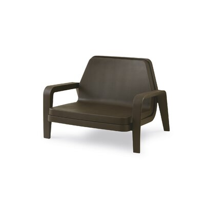 America Armchair Upholstery/Finish: Iron Grey Lacquer