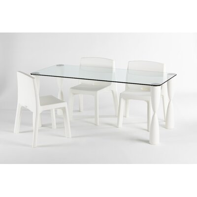 Prince Dining Table Finish: White, Size: 28.4 x 70.9 x 31.5