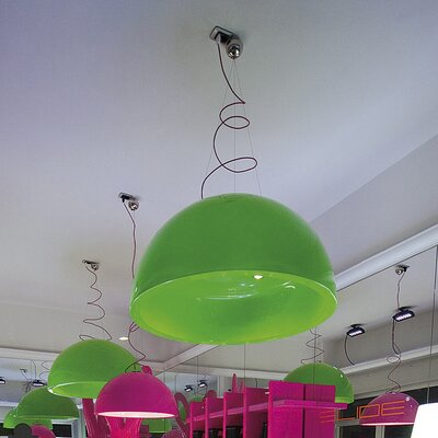 Cupole 13-Light Bowl Pendant Finish: Lime Green Lacquer, Size: 39.4 x 78.7 x 78.7