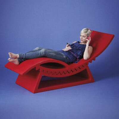 TicTac Chaise Lounge Finish: Red
