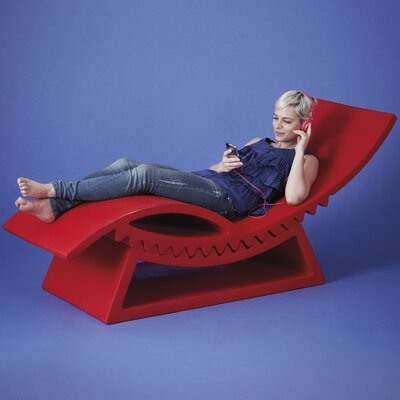 TicTac Chaise Lounge Finish: Flame Red Lacquer