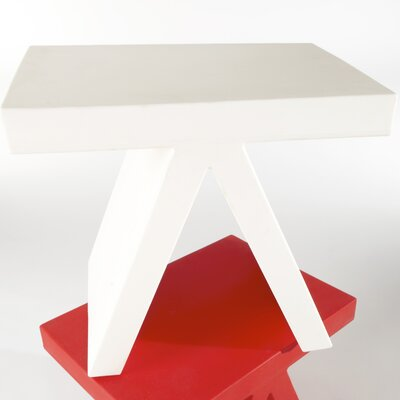 Toy End Table / Chair Color: Signal White Lacquer