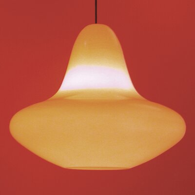 Sunday 1-Light Schoolhouse Pendant Finish: Orange with Light