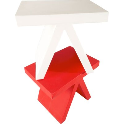 Toy End Table Color: White