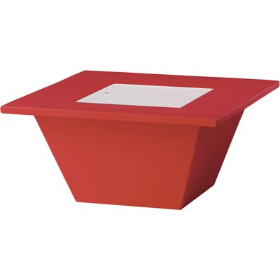 Bench Coffee Table Color: Red