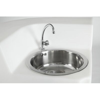 Single Jumbo Corner Sink with Tap and Drain