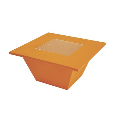 Bench Coffee Table Color: Orange